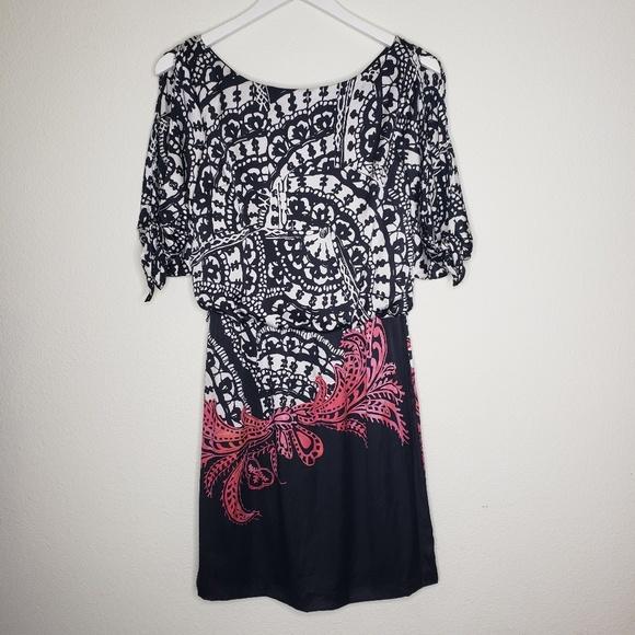 White House Black Market Dresses & Skirts - White House Black Market Black White Silk …